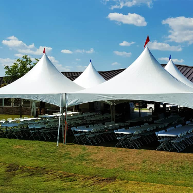40 x 40 Marque Tent with side walls/windows