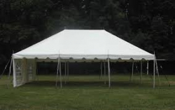20 x 20 Pole tent canopy - White 20 x 20 Pole Tent - installed with walls included