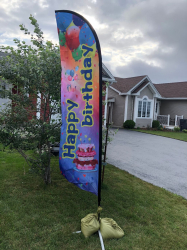 Birthday Flag - $ 20.00 add on