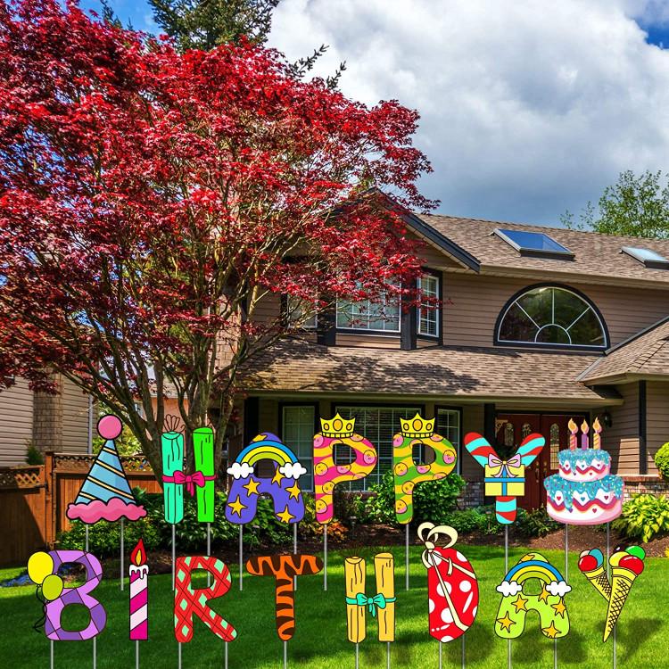 Happy Birthday Small Yard Card  -  25 $ add on