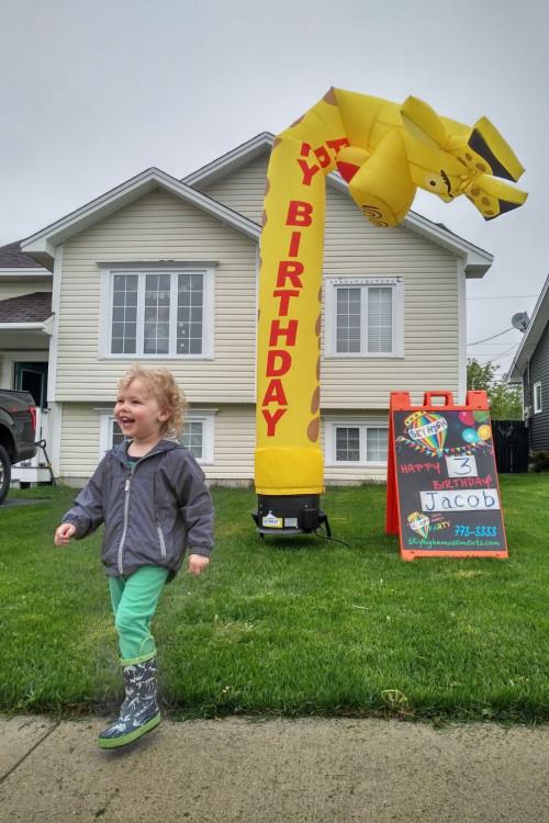 Happy Birthday Giraffe (13ft)